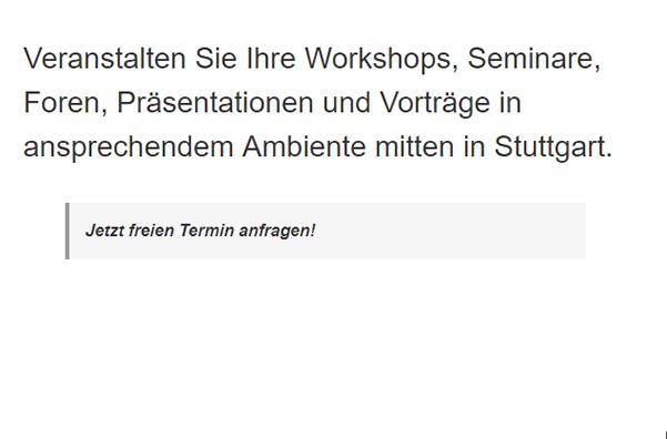 Konferenzraum für 70173 Weilimdorf (Stuttgart)